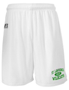 "Saint Lawrence School Wildcats  Russell Men's Mesh Shorts, 7"" Inseam"