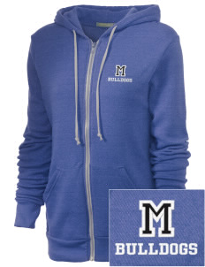 McAdams High School Bulldogs Embroidered Alternative Unisex The Rocky Eco-Fleece Hooded Sweatshirt