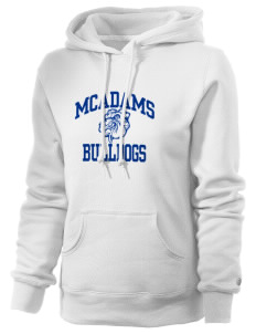 McAdams High School Bulldogs Russell Women's Pro Cotton Fleece Hooded Sweatshirt