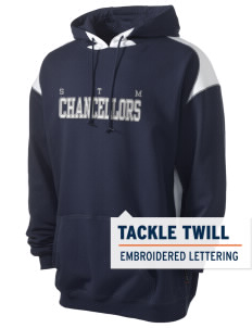 St. Thomas More School Chancellors Men's Pullover Hooded Sweatshirt with Contrast Color with Tackle Twill