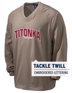 Titonka Consolidated School Indians adidas Men's ClimaProof V-Neck Wind Shirt with Tackle Twill