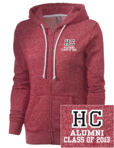 Heritage Christian School Patriots Embroidered Women's Marled Full-Zip Hooded Sweatshirt