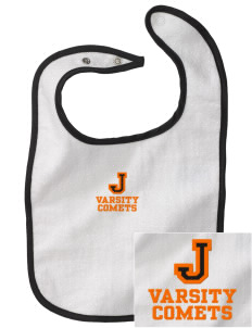 Jefferson Elementary School Comets Embroidered Baby Snap Terry Bib