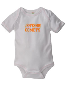 Jefferson Elementary School Comets Baby Zig-Zag Creeper