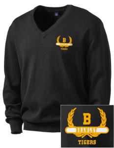 Brawley Middle School Tigers Embroidered Men's V-Neck Sweater