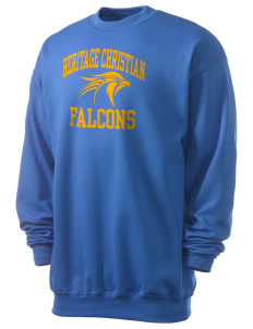 Heritage Christian School Falcons Men's 7.8 oz Lightweight Crewneck Sweatshirt