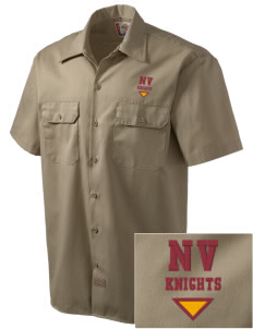 Naches Valley Middle School Knights Embroidered Dickies Men's Short-Sleeve Workshirt