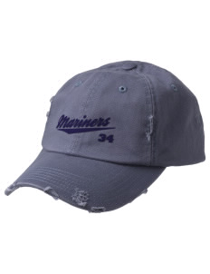 Pacific Harbor Christian School Mariners Embroidered Distressed Cap