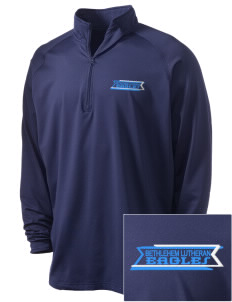Bethlehem Lutheran School Eagles Embroidered Men's Stretched Half Zip Pullover