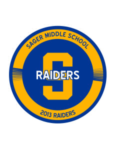 Sager Middle School Raiders Sticker
