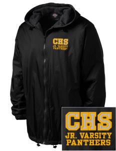 Cusick School Panthers Embroidered Dickies Men's Fleece-Lined Hooded Jacket