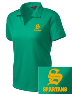 Robert L Olds Junior High School Spartans Embroidered Women's Dri Mesh Polo