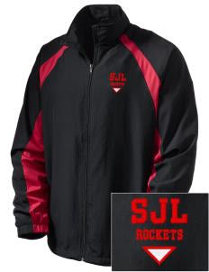 St. John's Lutheran School Rockets  Embroidered Men's Full Zip Warm Up Jacket