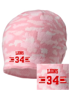 Community Christian School Lions Embroidered Camo Beanie