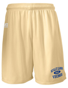 "Mid Valley Learning Center Vikings  Russell Men's Mesh Shorts, 7"" Inseam"