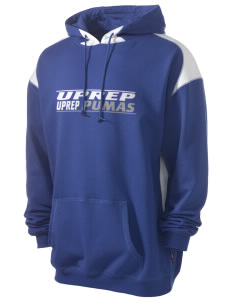 University Prep School Pumas Men's Pullover Hooded Sweatshirt with Contrast Color