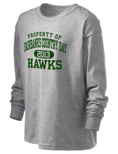 Fairbanks Country Day School Hawks Kid's 6.1 oz Long Sleeve Ultra Cotton T-Shirt