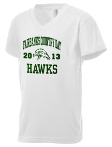 Fairbanks Country Day School Hawks Kid's V-Neck Jersey T-Shirt
