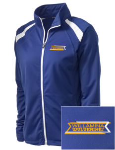 Willamina Middle School Wolverines Embroidered Women's Tricot Track Jacket