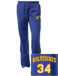 Willamina Middle School Wolverines Embroidered Women's Tricot Track Pants