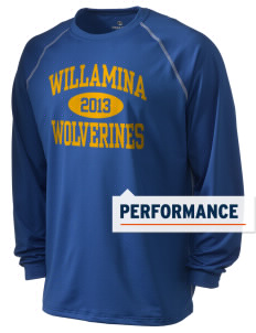 Willamina Middle School Wolverines Holloway Men's Fuel Performance Long Sleeve T-Shirt