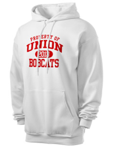 Union High School Bobcats Men's 7.8 oz Lightweight Hooded Sweatshirt