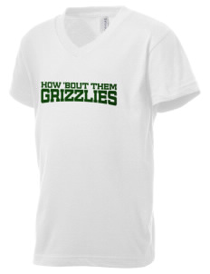Gilchrist School Grizzlies Kid's V-Neck Jersey T-Shirt