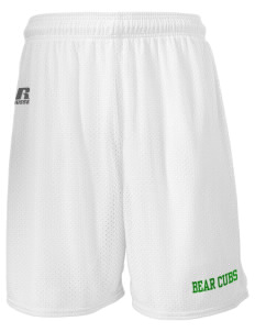 "Belmont Elementary School Bear Cubs  Russell Men's Mesh Shorts, 7"" Inseam"