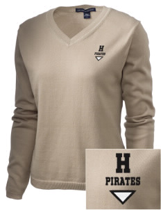 Heath Elementary School Pirates Embroidered Women's V-Neck Sweater