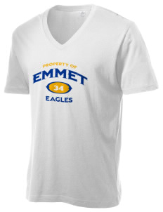 Emmet Schools Eagles Alternative Men's 3.7 oz Basic V-Neck T-Shirt