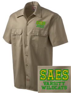 San Antonio Union School Wildcats Embroidered Dickies Men's Short-Sleeve Workshirt