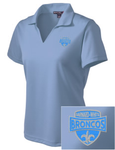 Barnard-White Middle School Broncos Embroidered Women's Dri Mesh Polo