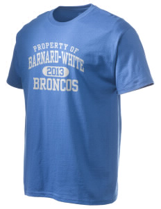 Barnard-White Middle School Broncos Hanes Men's 6 oz Tagless T-shirt