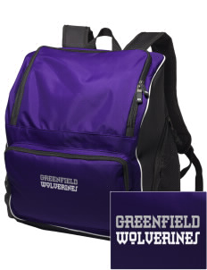 Greenfield Elementary School Wolverines Embroidered Holloway Backpack