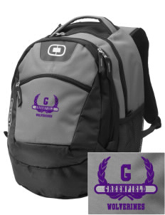 Greenfield Elementary School Wolverines Embroidered OGIO Rogue Backpack