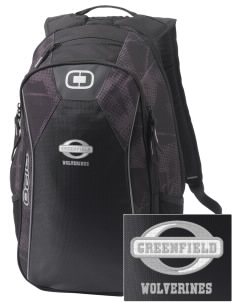 Greenfield Elementary School Wolverines Embroidered OGIO Marshall Backpack