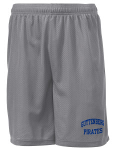"Guttenberg Elementary School Pirates Men's Mesh Shorts, 7-1/2"" Inseam"