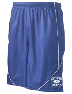"Guttenberg Elementary School Pirates Men's Pocicharge Mesh Reversible Short, 9"" Inseam"