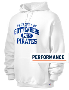 Guttenberg Elementary School Pirates Russell Men's Dri-Power Hooded Sweatshirt