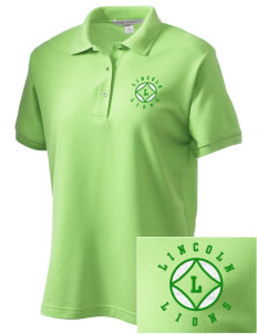 Lincoln Elementary School Lions Women's Embroidered Silk Touch Polo