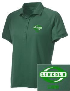 Lincoln Elementary School Lions Embroidered Women's Polytech Mesh Insert Polo
