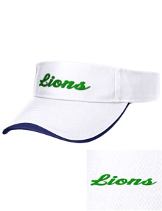 Lincoln Elementary School Lions Embroidered Binding Visor