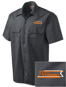 Tom Elementary School Tigers Embroidered Dickies Men's Short-Sleeve Workshirt