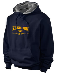 Elkhorn School Ocelots Champion Men's Hooded Sweatshirt