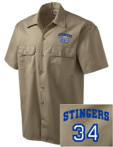 Dover School Stingers Embroidered Dickies Men's Short-Sleeve Workshirt