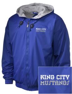 King City High School Mustangs Embroidered Holloway Men's Hooded Jacket