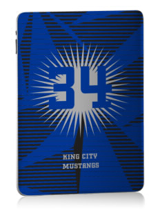King City High School Mustangs Apple iPad Skin