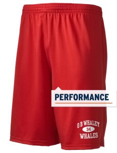 "O B Whaley Elementary School Whales Holloway Men's Performance Shorts, 9"" Inseam"