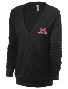 MacDoel Elementary School Mustangs Unisex 5.6 oz Triblend Cardigan with Distressed Applique