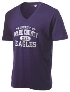 Ware County Magnet School Eagles Alternative Men's 3.7 oz Basic V-Neck T-Shirt